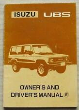 isuzu trooper citation workshop manual
