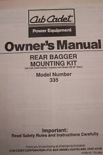 cub cadet twin rear bagger kit manual