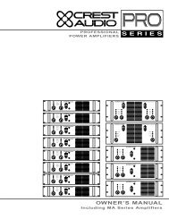 crest audio 8001 user manual