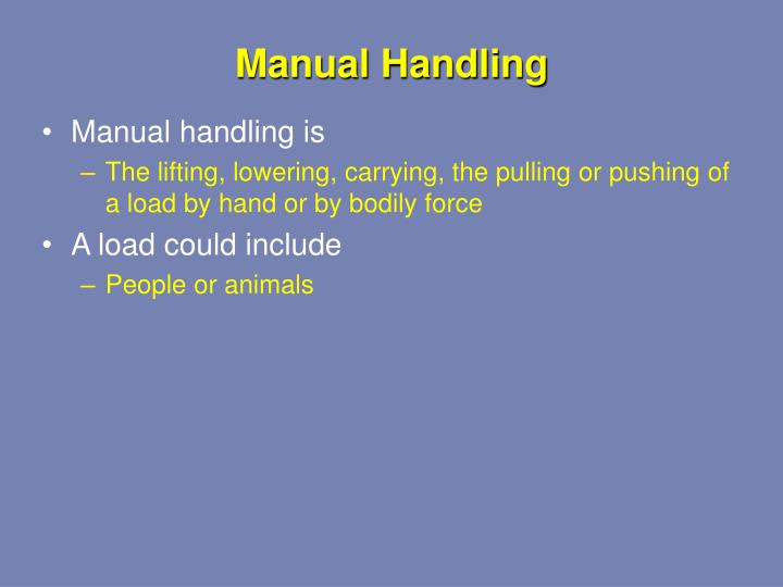 manual handling train the trainer courses north west
